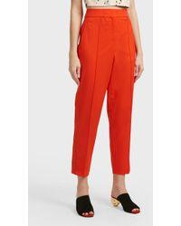 Proenza Schouler - Carrot Wool-blend Trousers, Size Us4, Women, Orange - Lyst
