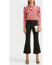 Isabel Marant - Nyree Cropped Cotton-blend Flared Trousers - Lyst
