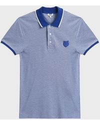 KENZO - Tiger Crest Cotton Polo Shirt - Lyst