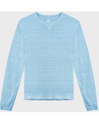 120% Lino - 120% Linen Basic T-shirt - Lyst