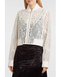Elie Saab - Sequin-embellished Embroidered Lace Bomber Jacket, Fr40 - Lyst