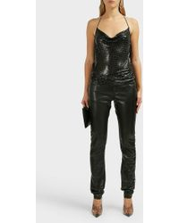 Paco Rabanne - Draped Mesh Top - Lyst