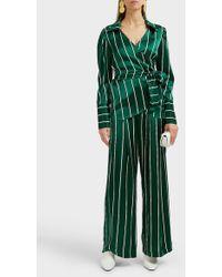 Maggie Marilyn - Love Unconditionally Striped Silk-satin Wide-leg Pants - Lyst