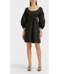 Isa Arfen - Sanremo Puff-sleeve Cut-out Dress - Lyst