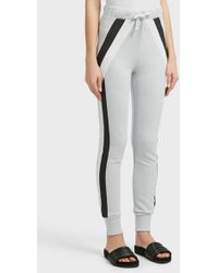 Wildfox - Vertex Striped Cotton Jogging Trousers, Size Xs, Women, Blue - Lyst