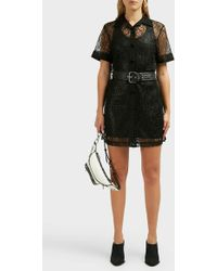 c16ccb81ef4 Lyst - Alexander Wang Layered Lace-trimmed Satin And Cotton-poplin ...