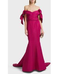 Marchesa - Off-shoulder Trumpet Gown - Lyst