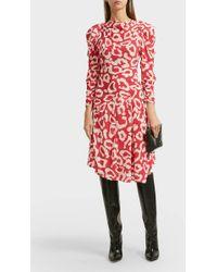 Isabel Marant - Carley Asymmetric Printed Cotton-blend Dress - Lyst