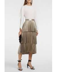 A.L.C. | Harley Tiered Pleated Lamé Skirt | Lyst