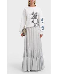 CALVIN KLEIN 205W39NYC - Pinstripe Silk Maxi Skirt - Lyst