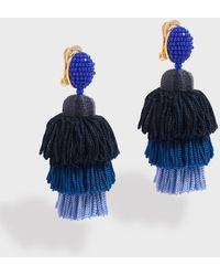 Oscar de la Renta - Long Tiered Tassel Earrings - Lyst