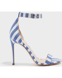 Monse - Striped Canvas Sandals - Lyst