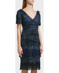 Notte by Marchesa - Fringe Dress, Size Us6, Women, Navy - Lyst