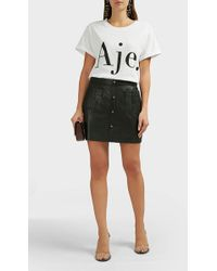 e010328978 Aje. - Shrimpton Leather Mini Skirt - Lyst
