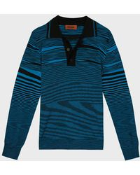 Missoni - Striped Polo Shirt - Lyst