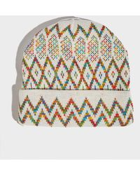 Missoni - Knitted Beanie, Size Os, Men, White - Lyst