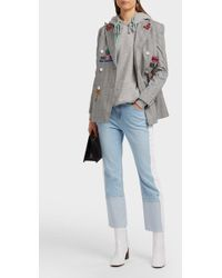 SJYP - Cropped Striped Straight-leg Jeans - Lyst