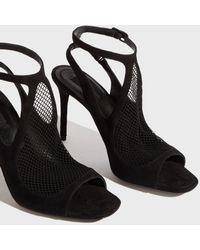 Alexander Wang - Fishnet Sandals, Size Fr38, Women, Black - Lyst
