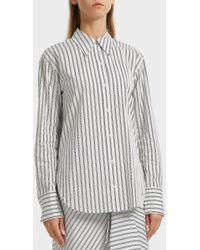 A.L.C. - Wharton Striped Cotton Shirt, Size Us2, Women, White - Lyst
