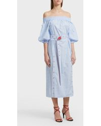 Adam Selman - Off-the-shoulder Cotton Dress - Lyst