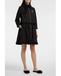 Vivetta - Ruffled Cotton-blend Twill Coat - Lyst