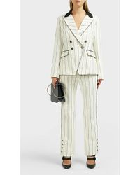 Jonathan Simkhai - Striped Cotton-blend Trousers - Lyst