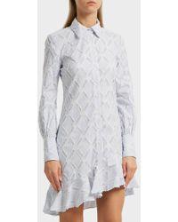 10 Crosby Derek Lam - Ruffled Cotton-blend Shirt Dress - Lyst