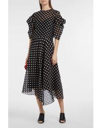 Anna October - Asymmetric Polka-dot Crepe Dress - Lyst