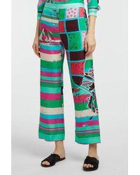 Emilio Pucci - Printed Silk-twill Wide-leg Trousers - Lyst