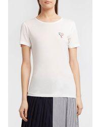 Maison Labiche - Embroidered Stretch-jersey T-shirt - Lyst