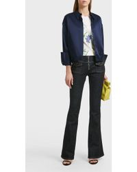Victoria, Victoria Beckham | Zipper Flare Jeans | Lyst