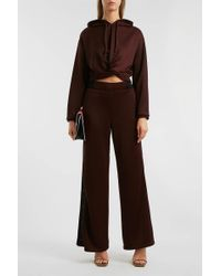 T By Alexander Wang - Cropped Jersey Hooded Sweatshirt - Lyst