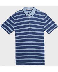 120% Lino - Striped Linen Polo Shirt - Lyst