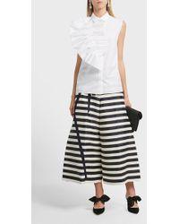 Delpozo | Pin Tucked Cotton Shirt | Lyst