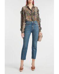 Proenza Schouler - Cropped Slim-leg Jeans, Size 24, Women, Blue - Lyst