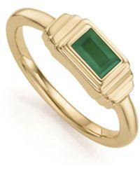 Monica Vinader - Gp Baja Deco Ring - Green Onyx - Lyst
