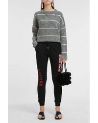 Zoe Karssen - Embroidered Cotton Track Trousers - Lyst