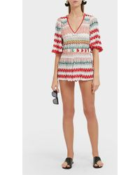 Missoni Chevron-patterned Woven Playsuit