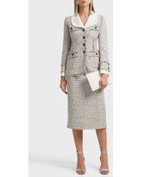 Alessandra Rich - Tweed Pencil Skirt - Lyst