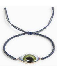 Lito - Green Enamel Eye Bracelet - Lyst
