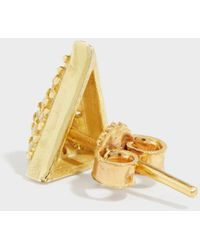 Maha Lozi - On The Edge Gold-plated Crystal Earrings - Lyst