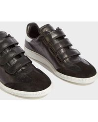Isabel Marant - Beth Suede-trimmed Leather Trainers - Lyst