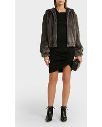 Helmut Lang - Hooded Faux Fur Jacket - Lyst