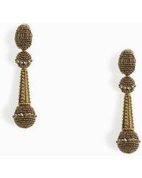 Oscar de la Renta | Beaded Drop Earrings | Lyst