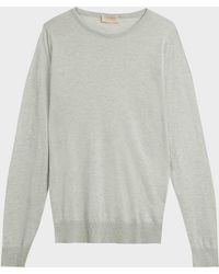 John Smedley - Theon Cotton And Cashmere-blend Jumper, S - Lyst