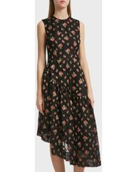 Simone Rocha - Asymmetric Hem Dress, Size Uk10, Women, Black - Lyst