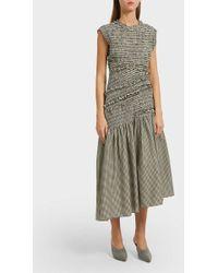 3.1 Phillip Lim - Asymmetric Gingham Cotton-blend Midi Dress - Lyst