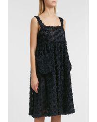 Shrimps - Textured Dress, Size Uk14, Women, Navy - Lyst