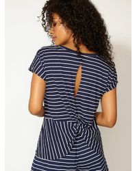 Boux Avenue - Jess Stripe Twist Back Tee - Lyst