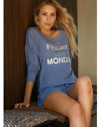 "Boux Avenue - ""more Friday"" Sweater And Shorts Set - Lyst"